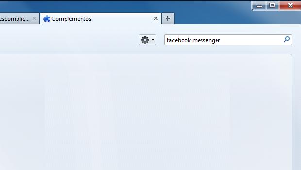Procurando pelo Facebook Messenger no Firefox (Foto: Reprodução/Edivaldo Brito)