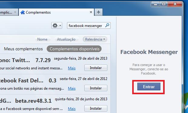 """Clicando em """"Entrar"""" para se conectar ao Facebook (Foto: Reprodução/Edivaldo Brito)"""