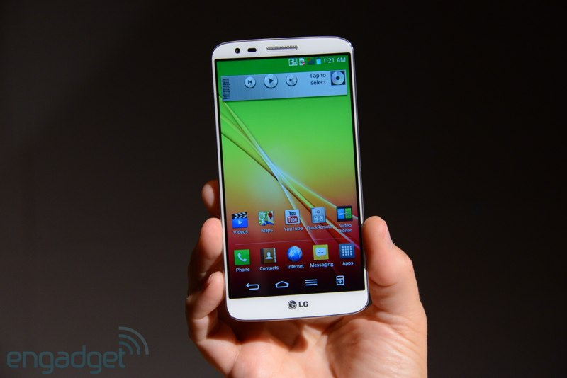 Tela Full HD é um dos atrativos do smartphone LG G2 (Foto: Reprodução/Engadget)