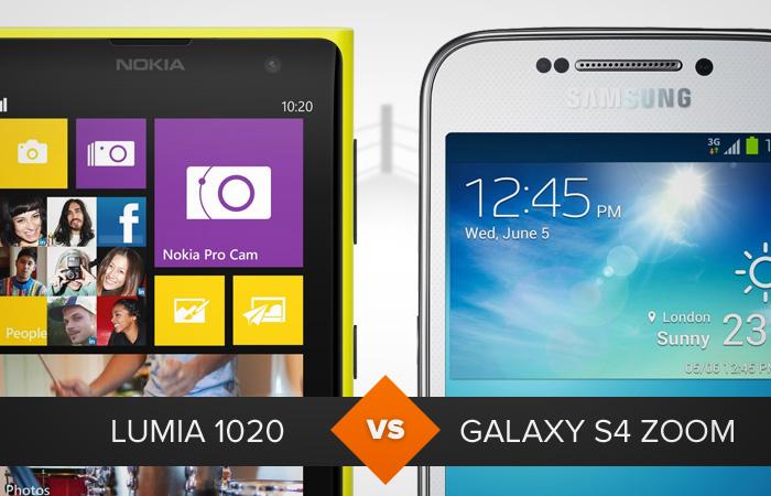 Nokia Lumia 1020 ou Galaxy S4 Zoom: duelo dos melhores cameraphones do mercado (Foto: Arte / TechTudo)