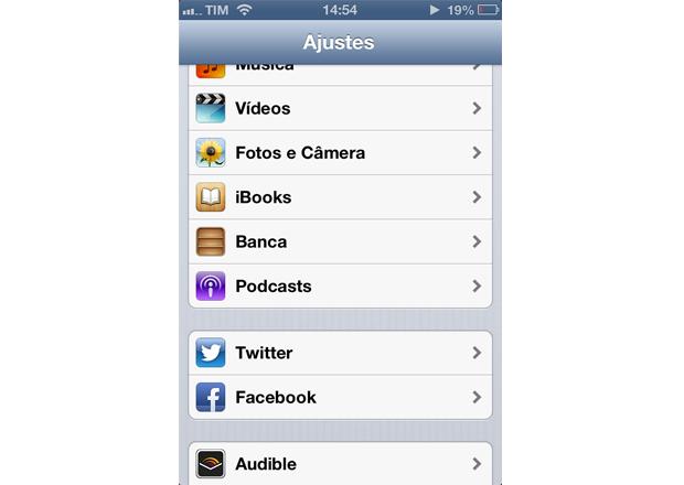 Dentro das configurações, entre em iBooks (Foto: Reprodução/Lucas da Silva)