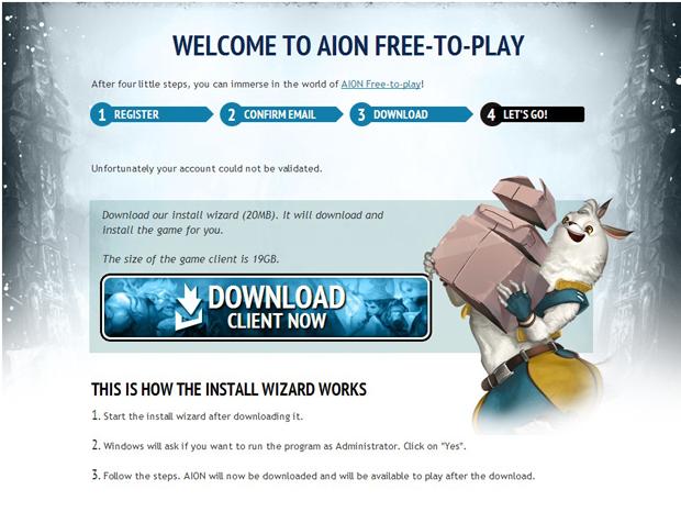 Faça o Download do Client de Aion (Foto: TechTudo)
