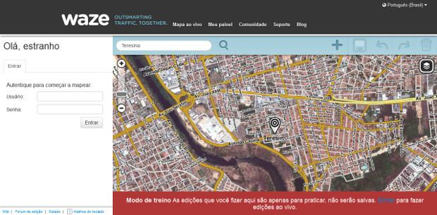 f3ed33a02b O primeiro passo é acessar o editor do Waze (Foto  Reprodução   Dario  Coutinho