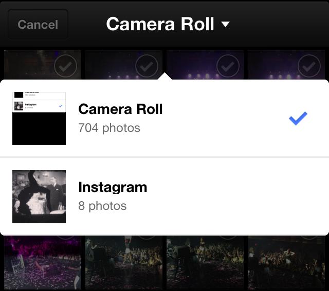 Facebook Messenger para iOS agora permite compartilhamento de imagens de qualquer álbum (Foto: Reprodução / Paulo Alves)