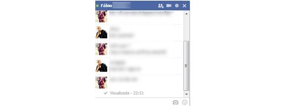 Tela do chat no Facebook(Foto: Reprodução/Thiago Barros)