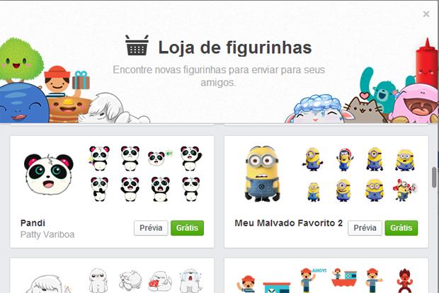 Emoticons do Meu Malvado Favorito na loja de figurinhas do Facebook (Foto: Reprodução/Thiago Barros)