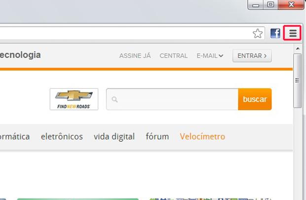 Clicando sobre o ícone do Google Chrome (Foto: Reprodução/Marvin Costa)