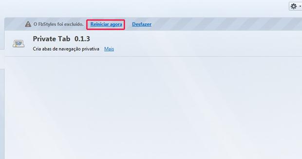 Reiniciando o Firefox (Foto: Reprodução/Marvin Costa) (Foto: Reiniciando o Firefox (Foto: Reprodução/Marvin Costa))