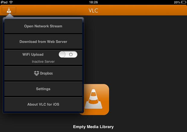 VLC tem várias opções de como abrir vídeo (Foto: Reprodução/Thiago Barros)
