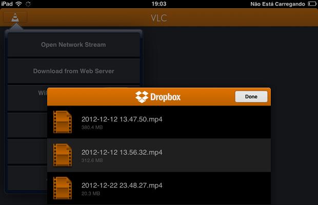 Abrir vídeos do Dropbox no VLC é muito simples (Foto: Reprodução/Thiago Barros)