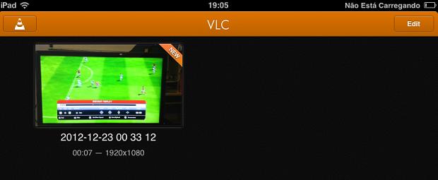 Vídeo carregado aparece na página principal do VLC (Foto: Reprodução/Thiago Barros)