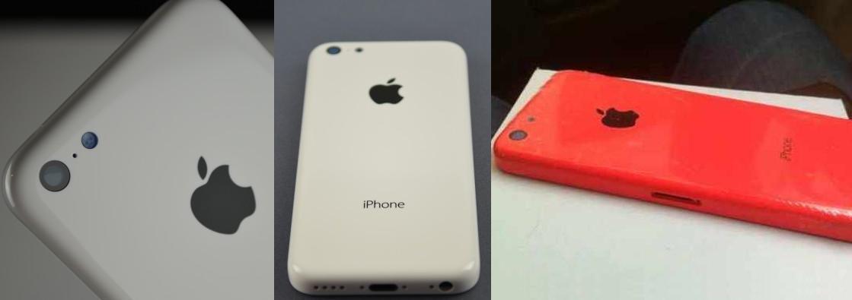 O iPhone 5C aparece nas cores branco e vermelho, aparentemente nos estágios finais de montagem (Foto:Reprodução/Weibo)