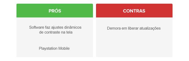 Prós e contras do Android personalizado pela Sony (Foto: Arte/TechTudo)