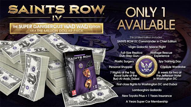 Saints Row 4 tem edição especial milionária (Foto: Divulgação)