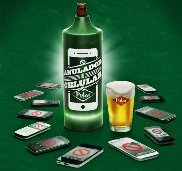 Cerveja Polar cria 'anulador de celular' (Foto: Divulgação)