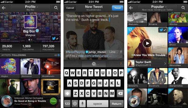 #Music ganhou diversos novos recursos (Foto: Reprodução/Engadget)