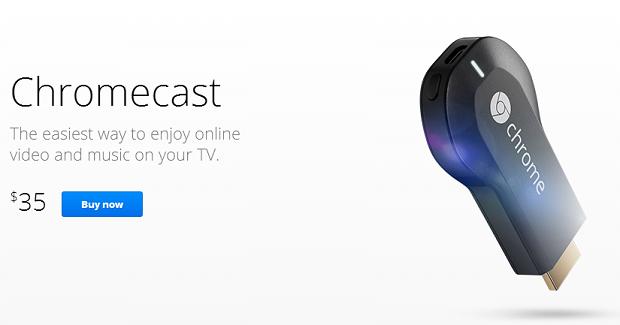 Chromecast está à venda no Google Play dos EUA (Foto: Reprodução)