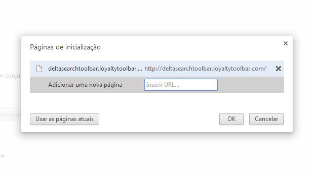 Delete a página do Delta Search (Foto: Reprodução)