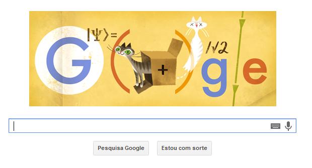 Doodle faz homenagem a físico austríaco importante na Mecânica Quântica (Foto: Reprodução/Google)