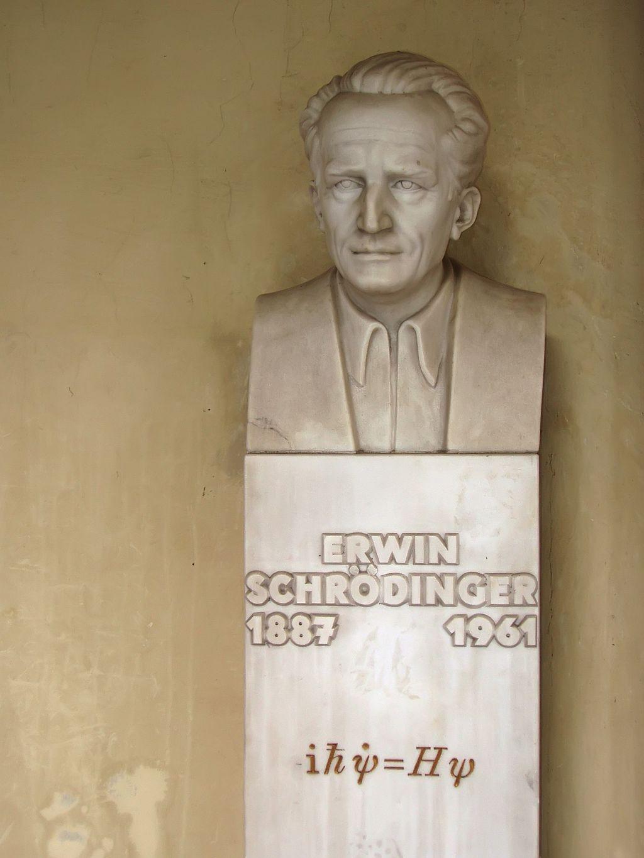 Busto de Schrödinger, na Universidade de Viena (Foto: Reprodução/Wikicommons)