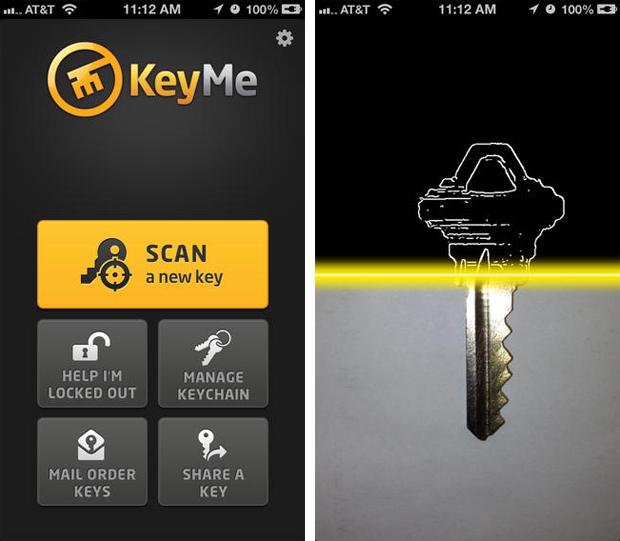 Aplicativo KeyMe fotografa chave e armazena uma cópia digital na nuvem (Foto: Reprodução/App Store)