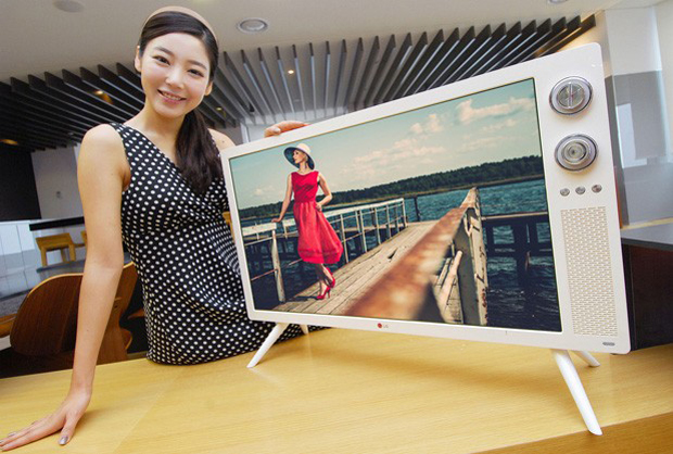 Nova televisão com estilo retrô da LG está disponível somente na Coréia do Sul (foto: Divulgação)