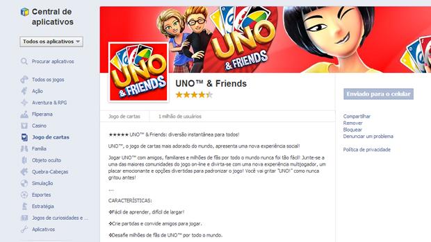 O Facebook é utilizado para encontrar amigos com o game. (Foto: Reprodução)