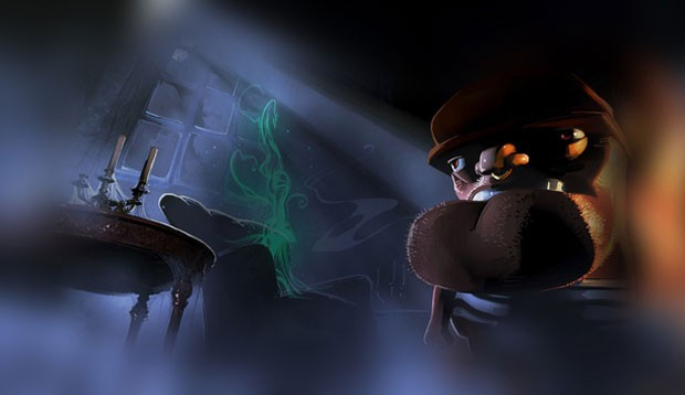Ilustração do game 'Wayward Manor', criado por Neil Gaiman (Foto: Divulgação) (Foto: Ilustração do game 'Wayward Manor', criado por Neil Gaiman (Foto: Divulgação))