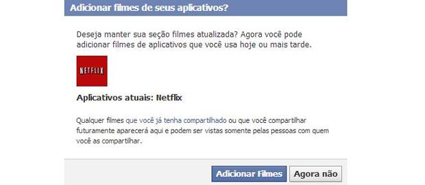 Sincronização só está disponível com a Netflix (Foto: Reprodução/Thiago Barros)