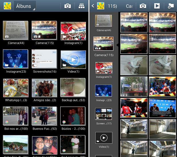 Galeria é acessível de maneira bem simples no Android (Foto: Reprodução/Thiago Barros)