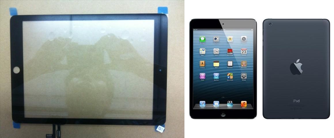 Painel frontal do iPad 5 confirma adoção do mesmo design utilizado no iPad Mini (Foto:Reprodução/MacRumors) (Foto: Painel frontal do iPad 5 confirma adoção do mesmo design utilizado no iPad Mini (Foto:Reprodução/MacRumors))