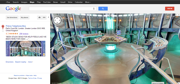 Dr Who Google Maps on