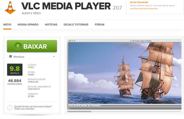 Baixe o VLC Media Player no TechTudo Downloads (Foto: Reprodução/TechTudo)