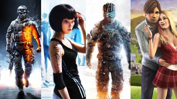 Battlefield 3, Mirror's Edge, Dead Space 3 e The Sims 3 estão na lista. (Foto: Montagem) (Foto: Battlefield 3, Mirror's Edge, Dead Space 3 e The Sims 3 estão na lista. (Foto: Montagem))
