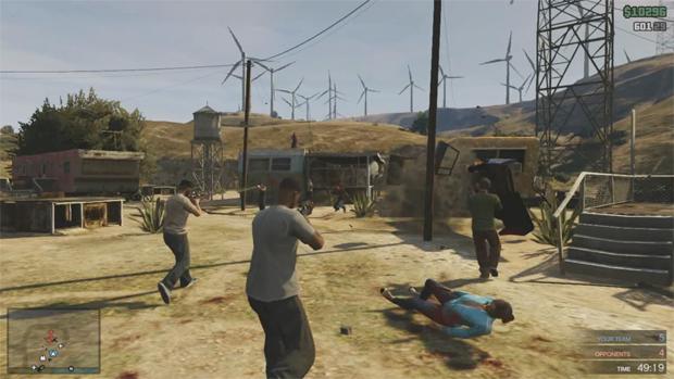 GTA 5 terá modo online com batalhas entre gangues, corridas e até esportes Gtaonline-tiroteio