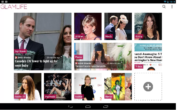 Glamlife  é um app que mostra a vida das celebridades mundiais (Foto: Divulgação)
