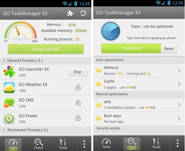 Go Cleaner & Task Manager é um app para otimizar o funcionamento do sistema Android(Foto: Divulgação)