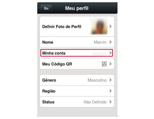 Definindo informações pessoais no WeChat (Foto: Reprodução/Marvin Costa)