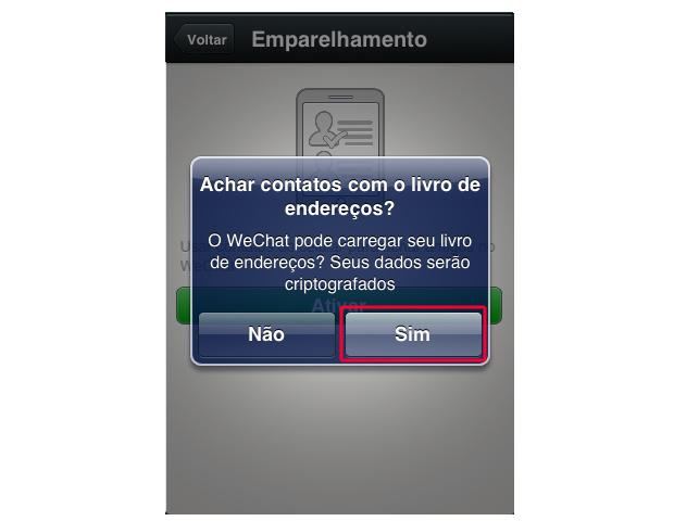 Encontrando contatos no WeChat (Foto: Reprodução/Marvin Costa)