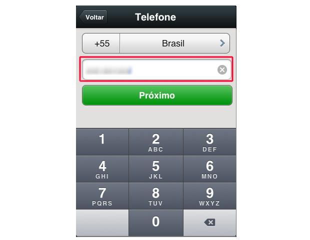 Inserindo o novo numero de telefone (Foto: Reprodução/Marvin Costa)