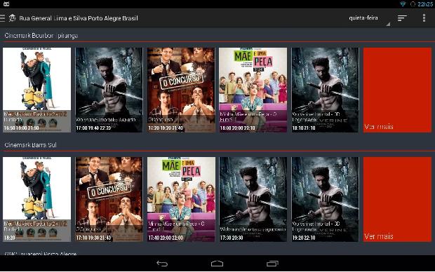 Movie ShowTime é um aplicativo gratuito que mostra filmes em cartaz em cinemas próximos ao usuário (Foto: Divulgação)