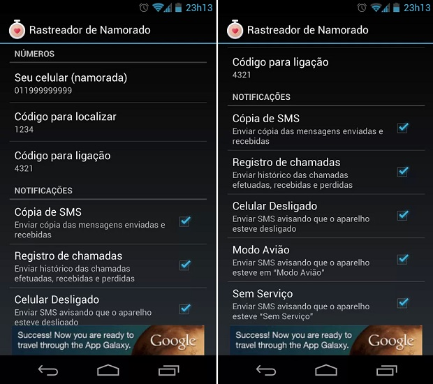 instalar rastreador no celular android
