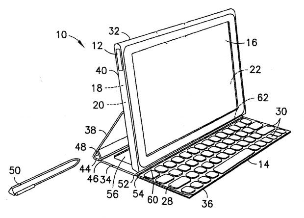 Inspirado no Surface, teclado destacável terá uma pequena bateria extra para aumentar a autonomia do tablet (Foto: Reprodução)