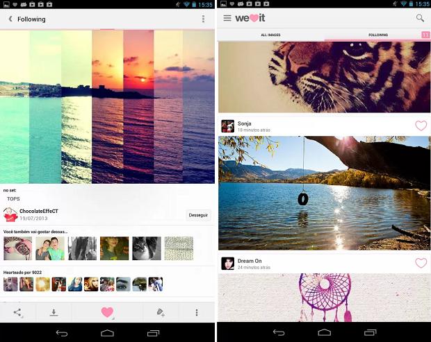 We Heart It é um aplicativo para o usuário compartilhar as fotos que ama (Foto: Divulgação)