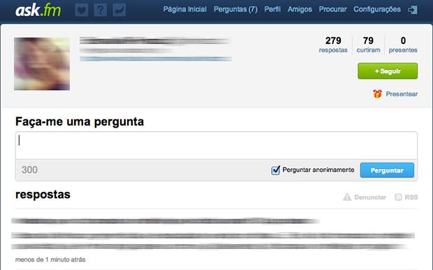 Página inicial do Ask.Fm (Foto: Reprodução/João Paulo Carrara)