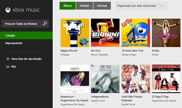 Tela inicial do Xbox Musica para navegadores (Foto: Reprodução/João Paulo Carrara)