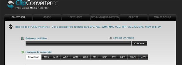 Clipconverter baixa e exporta vdeos do youtube em vrios formatos clipconverter simples de usar e gratuito foto reproduoaline jesus ccuart Images