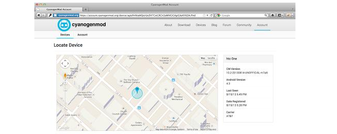 Cyanogenmod ganhou ferramenta para rastrear telefones (Foto: Reprodução/UberGizmo)