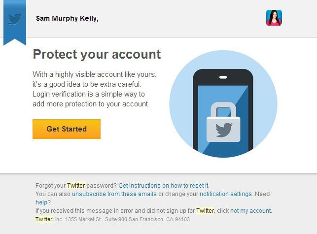 E-mail foi enviado para usuários verificados do Twitter (Foto: Reprodução Mashable) (Foto: E-mail foi enviado para usuários verificados do Twitter (Foto: Reprodução Mashable))