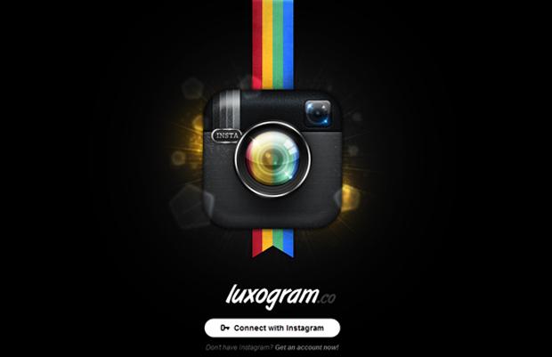 Interface do Luxogram (Foto: Reprodução/TechTudo)